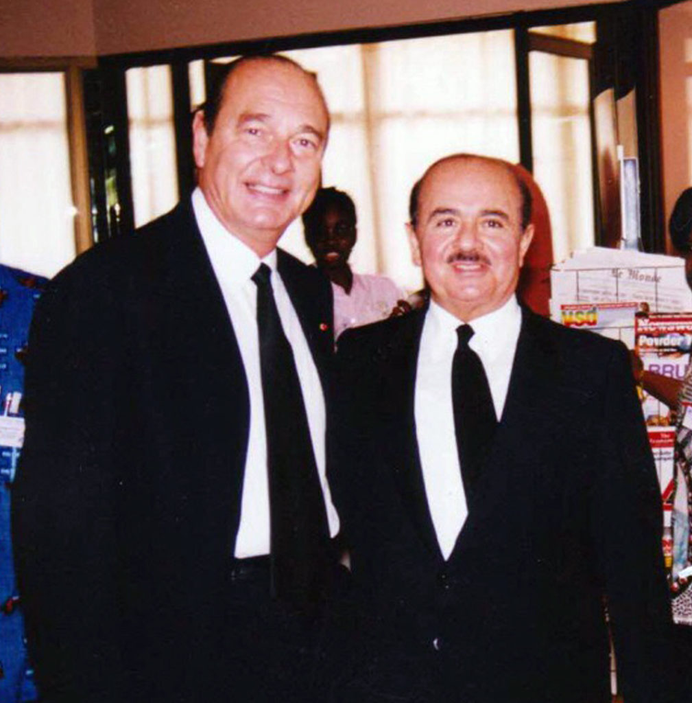Adnan Khashoggi with French President Jacques Chirac